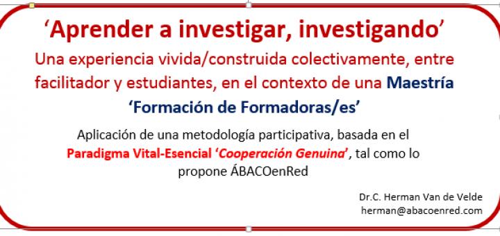 Aprender a investigar, investigando
