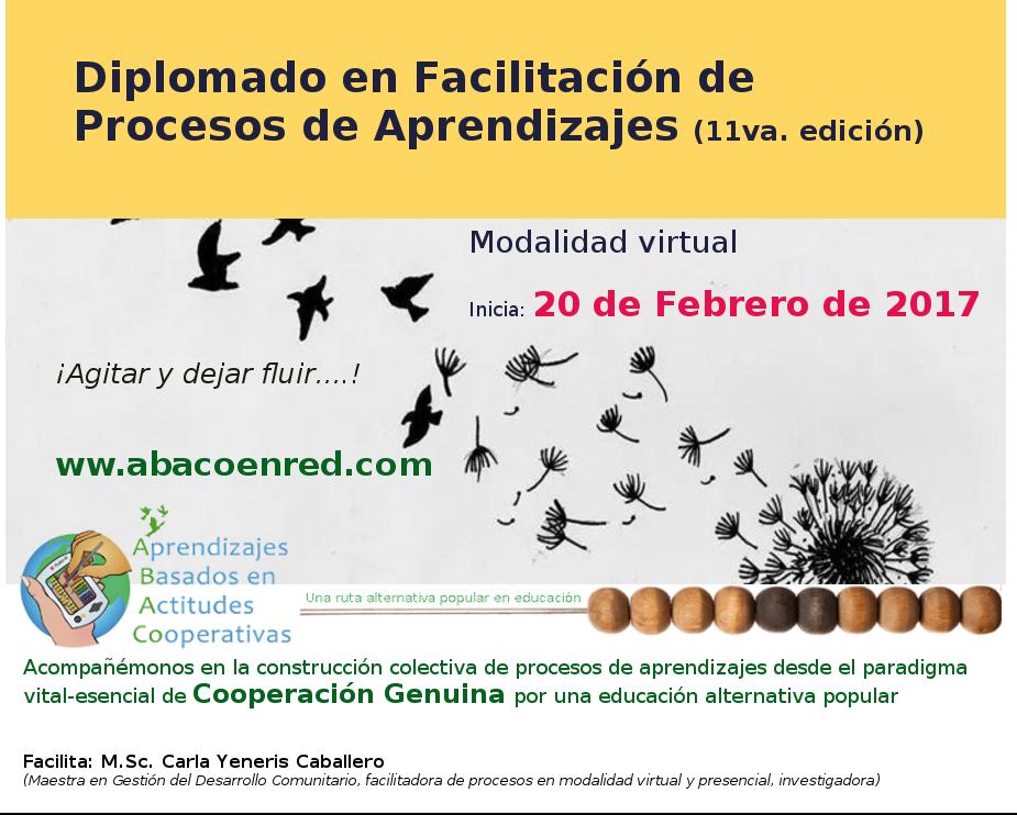 Diplomado en Facilitación de Procesos de Aprendizajes (11va. edición)
